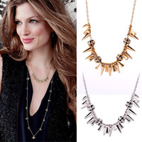 Bohemian fashion jewelry dropship - Rivets Vintage Necklace Brand Famous Women CZ Jewelry Fashion New Hot Sale Dropship