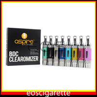 Electronic Cigarette Atomizer mixed color Aspire ET-S BDC Clearomizer ET-S BDC Atomizer Bottom Dual Coil vaporizer Aspire ET-S BDC EGO Atomizer original best price replacement tank