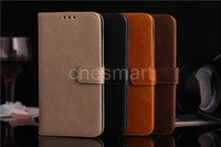 100pcs Fedex free, galaxy S5 wallet case, genuine leather Case...