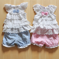 Wholesale Clothing Sets baby s clothing children outerwear lace flower bebe casual infantil clothes sets kids costumes g