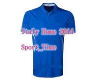 Wholesale 2014 World Cup Italy Home Jersey Thai Quality Blue Men s Soccer Jerseys Newest Style Top Selling Soccer Uniforms Kit Discount Football Shirt