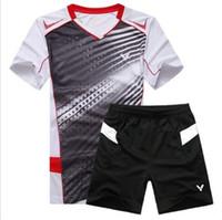 Wholesale Victory men s table tennis shirt badminton game T shirt
