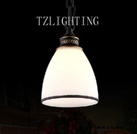 Wholesale Single Head Glass Chandelier Light Metal Pendent Lamp Ceiling Lamp Living Room Dining Room Bedroom Lighting
