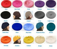 Wholesale 2014 New Fashion Women Beret Colors Vintage Wool Warm Winter Beanie Hats Caps Hot