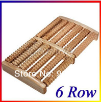 Wholesale 2014 New Row Wood Foot Massager for feet Wooden Roller Stress Relief Body detox pedicure Massage Feet Relax Spa