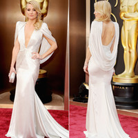 Oscar Awards academy shorts - Kate Hudson Oscars Red Carpet Dresses Distinctive Deep V Neck Backless Beaded Mermaid Court Train Evening Gowns