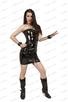 Wholesale 2014 Andrew Sexy Bdsm Lingerie Bondage Bustier PVC Leather Bustier Shiny Corset Dress FL