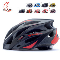 Wholesale New Fashion MOON brand bicycle helmet Ultralight and Integrally molded Unisex bike helmet Dual use cycling helmet MTB or Road