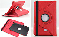 achat en gros de galaxie tab3 bascule-360 degrés tournant Flip PU cuir Smart Cover Stand Case pour Samsung Galaxy Tab3 onglet 3 Lite 7 pouces T110 T111 T113 T116
