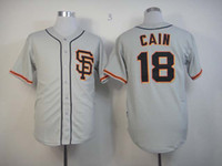 Wholesale Giants Cain Matt Gray Baseball Jerseys Men s SF Style Brand Name Cheap Stitched MLB Jerseys Soft Outdoor Athletic Apparel Jersey Kit