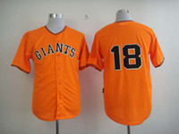 Baseball name brand apparel - Cheap Baseball Jerseys Giants Matt Cain Orange Stitched Baseball Jersey Brand Name Embroidered Outdoor Athletics Apparel Jersey Hot Sale