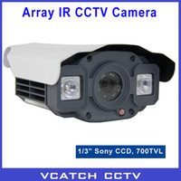 Wholesale CCTV quot Sony CCD TVL WDR Array LEDs Waterproof IR Day Night m Indoor Outdoor Surveillance CCTV Camera