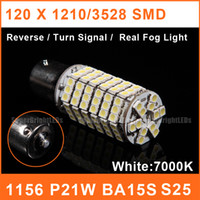 Wholesale 1156 BA15S LED P21W Car Reverse Bulbs SMD W V White Backup Rear Turn Signal Fog Lights FL0008