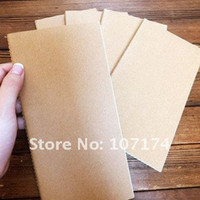 Wholesale 11cm cm Unlined kraft paper cover notebook book Blank graffiti notebooks sketchbooks The whole plain without LOGO