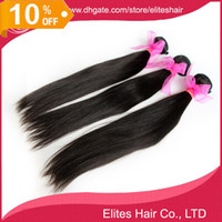 Wholesale 10 OFF Brazilian virgin HUMAN hair Straight Hair human hair weave extension weft mixed length DHL free BH503