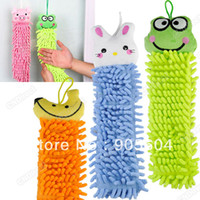 Wholesale Kitchen Bathroom Office Car Cartoon Design Absorbent Hand Dry Towel Clearing hot