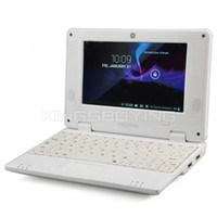 Wholesale Cheap inch Dual Core Mini Laptop Android VIA Netbook w Wi Fi RJ45 Camera HDMI SD Card Slot White