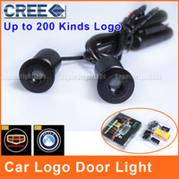Wholesale Car Logo Door Light LED Geely Emgrand Ec7 CREE Projector V W Logo Ghost Shadow Aluminum Shell DL012