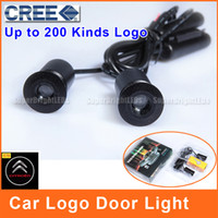 Wholesale Car Logo Door Light LED Citroen C4 C3 C5 CREE Projector V W Logo Ghost Shadow Aluminum Shell DL008