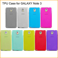 Wholesale Soft TPU Case For Samsung GALAXY Note Translucent Smooth Cover Clear Back Shell Case via DHL