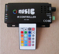 DC 12V Black Wholesale 120W Music IR controller ,12V ,10A,120W ,For RGB led strip or RGB led spot light free shipping