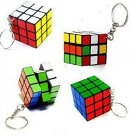 Wholesale New Classic Toys Keychain Rubik s cube x3x3cm Puzzle Magic Game Toy Key Keychain