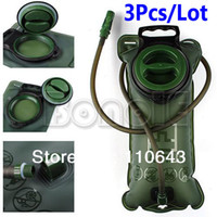Wholesale 3Pcs L TPU Bicycle Mouth Sports Water Bag Bladder Hydration Camping Hiking Climbing Military Green
