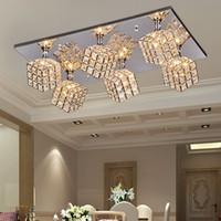 Wholesale Minimalist modern led K9 chandelier bedroom restaurant dining fixtures FRHC contemporary Spider Pendant light mordern crystal lamp