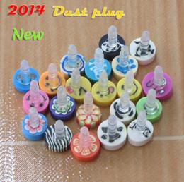2017 cute anti dust cap NEW- Cute cartoon Earphone Headphone anti Dust plug dust Cap for iphone4 4s for iphone 5 5s for samsung for for 3.5mm plug free shipping
