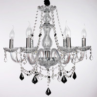 Wholesale 6 light The style of palace Glass Chandelier With Candle Bulb