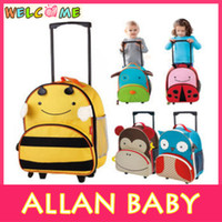 Wholesale Cartoon Animal Child Pull Rod Box Luggage Oxford Canvas Luggage ETFS008
