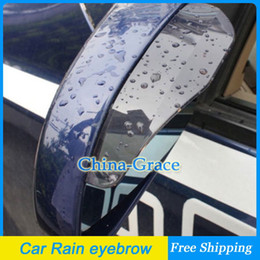 Wholesale 1Pair Flexible PVC Universal Car Rearview Mirror Rain eyebrow Cover Shade Rainproof Blades