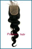 "Brazilian Hair Ombre Color Body Wave Beauty BazaarFashion Hair Middle Parting loose body Wave 4""*4"" Brazilian Virgin Human Hair silk base top Closure"