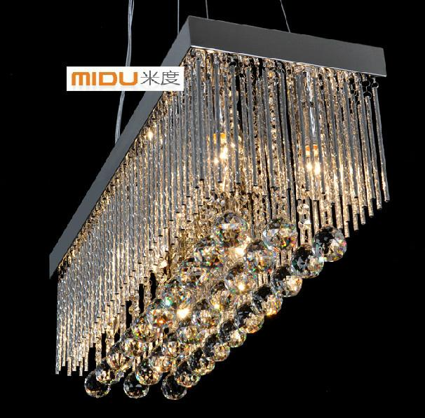 Red Rectangular Chandelier: Modern K9 Crystal Chandeliers K9 Crystal Diningroom
