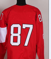 Ice Hockey Men Full Team Red #87 Crosby Jersey for 2014 Olympic and Paralympic Winter Games Jersey,Hockey Jersey,Hockey Jerseys With 12 golden maple leaves