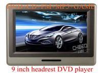 Video Guangdong China (Mainland) Headrest car Free Shipping EMS 9 inch HD Touch Screen Headrest DVD Player,DVD SD CD MP4 MP3 MP5 WMA JPEG+GAME