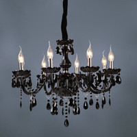 Wholesale Palace black crystal droplight with eight lights