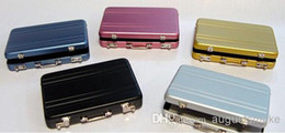 Wholesale Briefcase Business Card Case holder Coin code suitcase Case Aluminium Credit Card Holder password box design cardcase