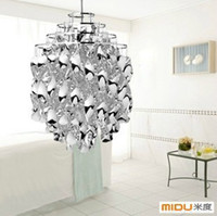 Wholesale Verner Panton Spiral Acrylic And Plated Metal Material Fashion And Gorgeous Pendant Light For Decorations