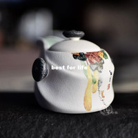 Wholesale Qiu Dehua porcelain kung fu tea exquisite jade snow snowflake enamel teapot tea is tea