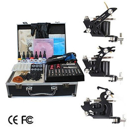 Wholesale Shader and Liner Tattoo Kit with Aluminum Carrying Case Limited Special Offer