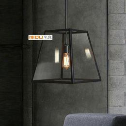 Loft European Style Restaurant Bar Counter RH Lighting Restoration Vintage Pendant Lamp Flament Pendant Edison Bulb Glass Boxes