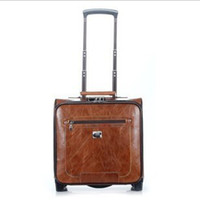Wholesale The new high end fashion vintage luggage suitcase OL business hand Tideng chassis special shipping box