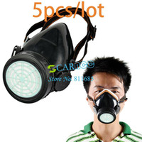 April Fool's Day   Wholesale - 5PCS LOT Single Cartridge Gas Mask protection Filter Chemical Gas Respirator Face Mask Drop Shipping TK0856