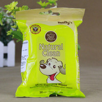 Wholesale Pet dog wet tissue paper wipes pumping dogs full effect of cleaning wipes