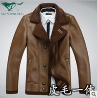 Wholesale One garment sheepskin leather leather fur coat and bladder lamb leather leather to promote male money