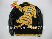 Jackets Men Cotton Tiger Printing Men coat BBC Billionaire Boys Club baseball jacket Pu sleeves s-xxl
