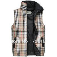 Wholesale New casual slim sleeveless down men s cotton padded Vest brand fashion sweater size M XXL