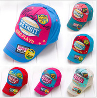 Wholesale Hot new retail children s baseball cap hat TAKE laundry water cowboy hat parent child cap color children cap