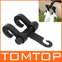 Wholesale 2 in Auto Car Venhicle Seat Bag Hook Car Seat Headrest Hanger Holder Bags Organizer Accessories Black